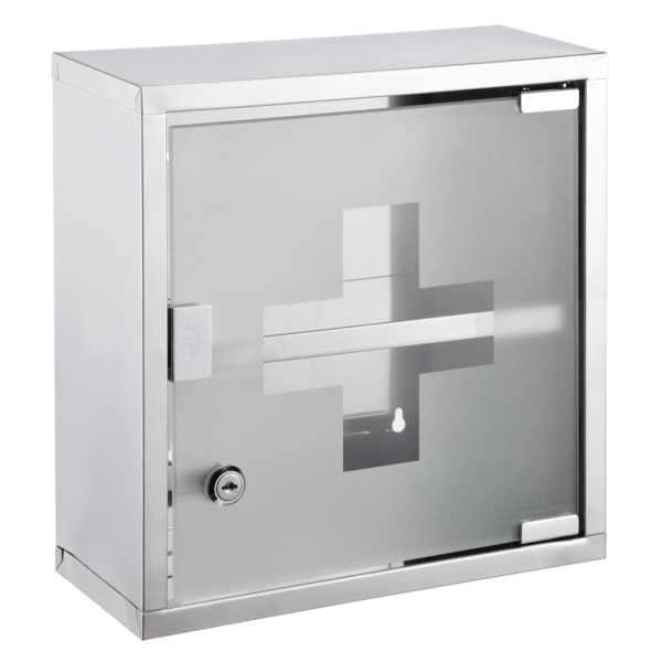 HI Dulap de medicamente, 30 x 12 x 30 cm, oțel inoxidabil