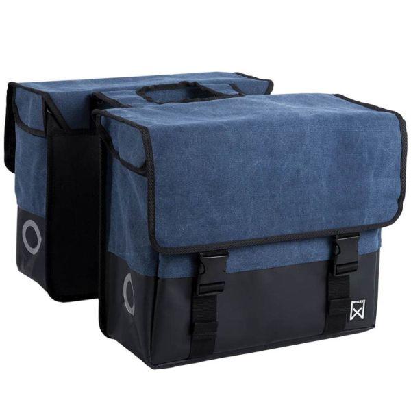 Willex Geantă pentru ziare, albastru și negru mat, 40 L, pânză, 15113