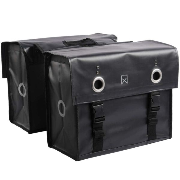 Willex Geantă pentru ziare, negru mat, 52 L, 10940