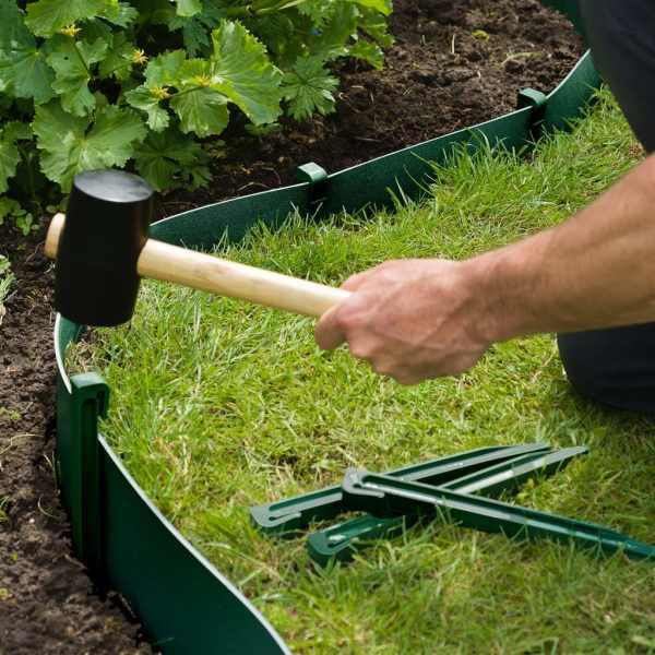 Nature Țăruși de fixare pentru grădină, 10 buc., verde