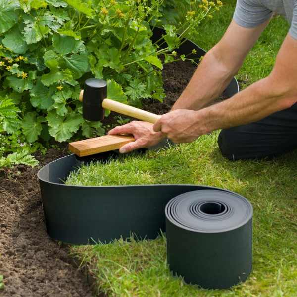 Nature Țăruși de fixare pentru grădină, 10 buc., negru