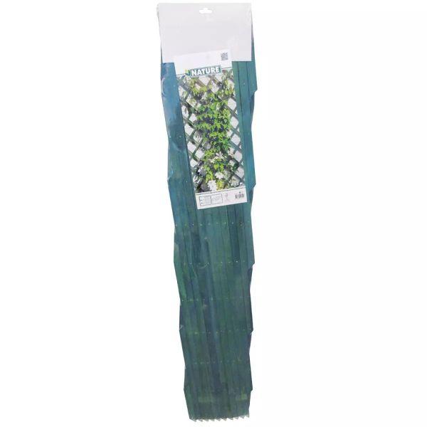 Nature Spalier de grădină, verde, 100 x 200 cm, lemn, 6041704