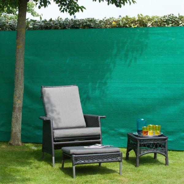 Nature Gard de grădină paravan din plasă, verde, 1,2 x 5 m, PE
