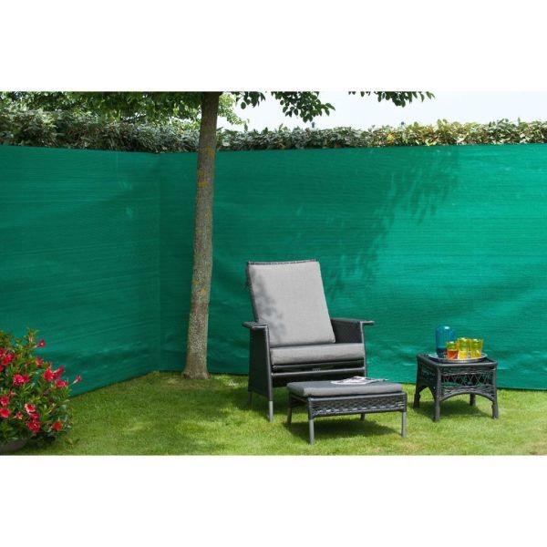 Nature Gard de grădină paravan din plasă, verde, 1,5 x 10 m, PE