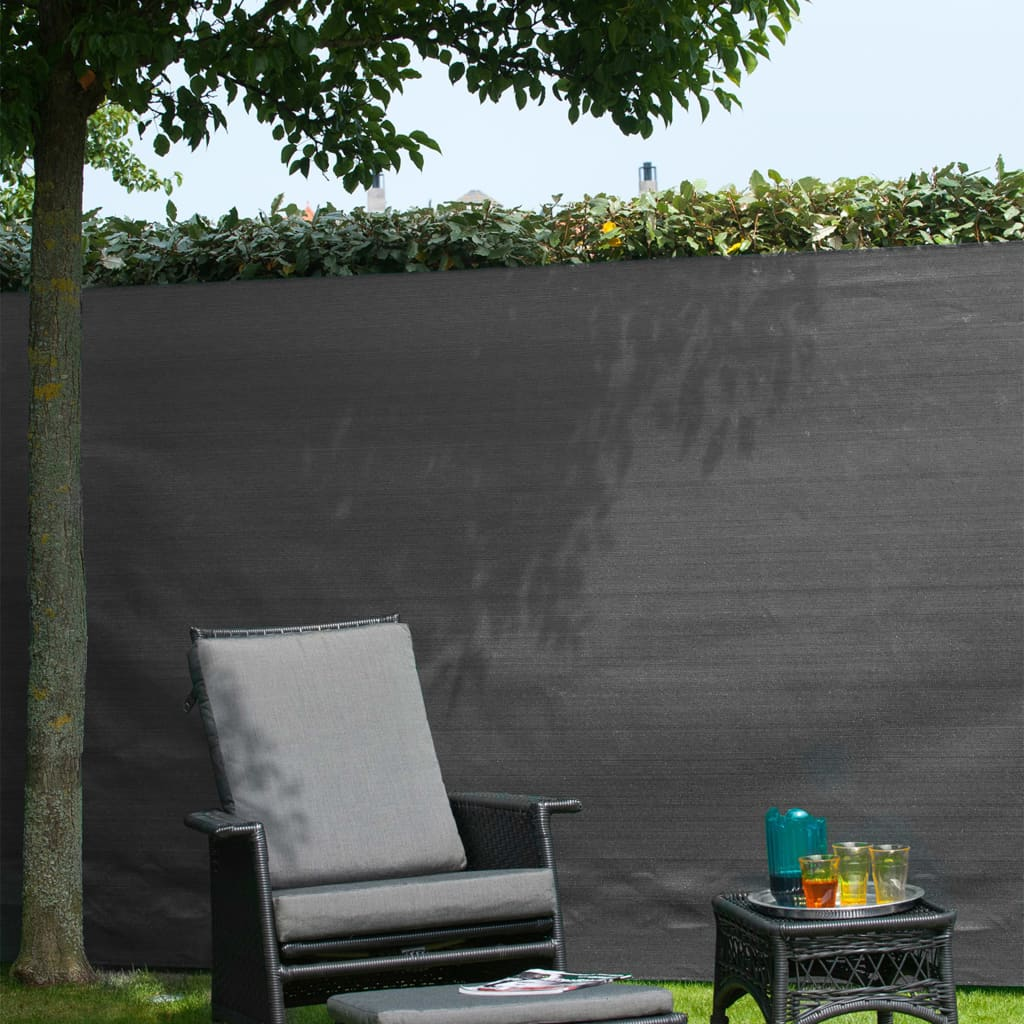 Nature Gard de grădină paravan din plasă, antracit, 1 x 3 m, PE