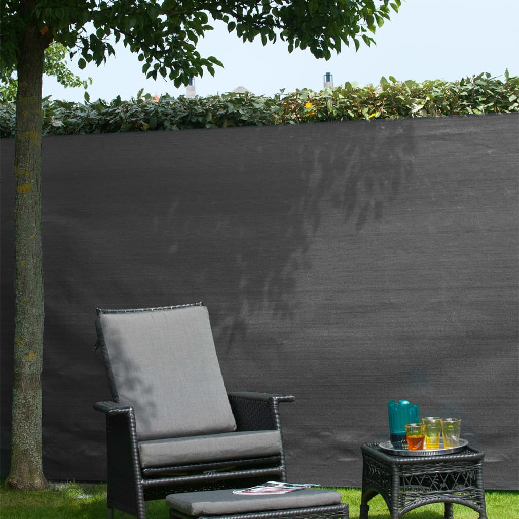 Nature Gard de grădină paravan din plasă, antracit, 1,5 x 5 m, PE
