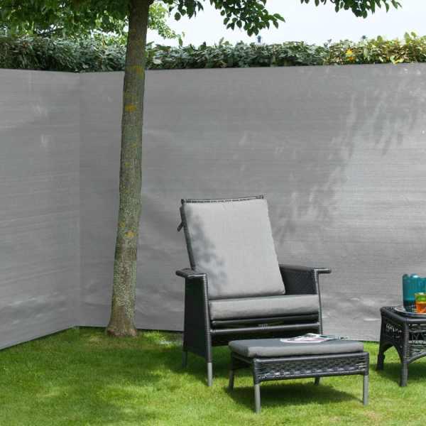 Nature Gard de grădină paravan din plasă, gri, 1,2 x 5 m, PE