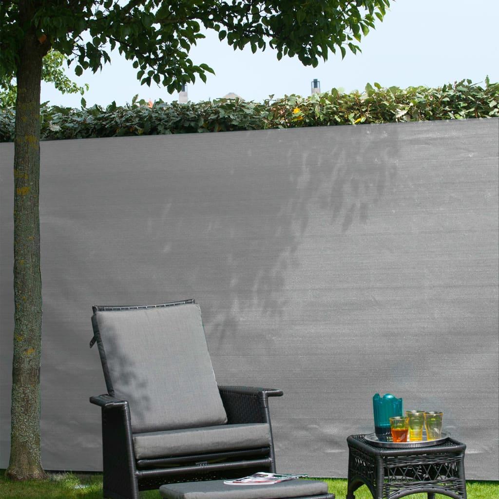 Nature Gard de grădină paravan din plasă, gri, 1,5 x 5 m, PE