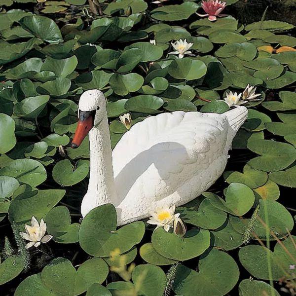 Ubbink Lebădă Albă pentru Grădină și Iaz Ornament de Plastic
