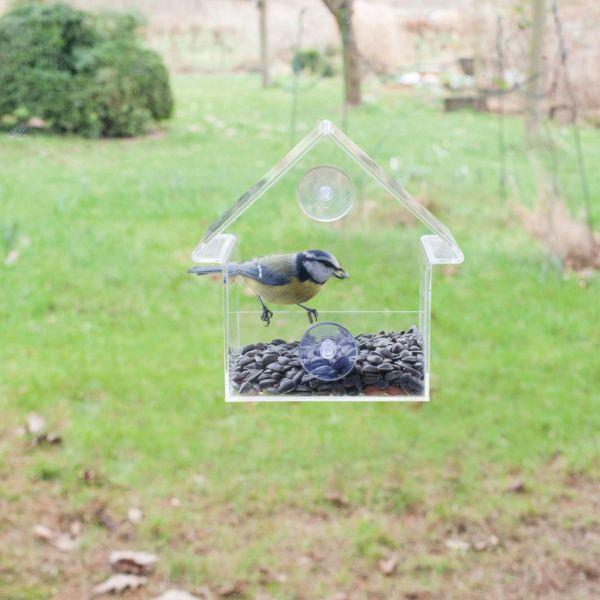 Esschert Design Hrănitor de păsări din acril, 15 x 10 x 15,3 cm, FB370