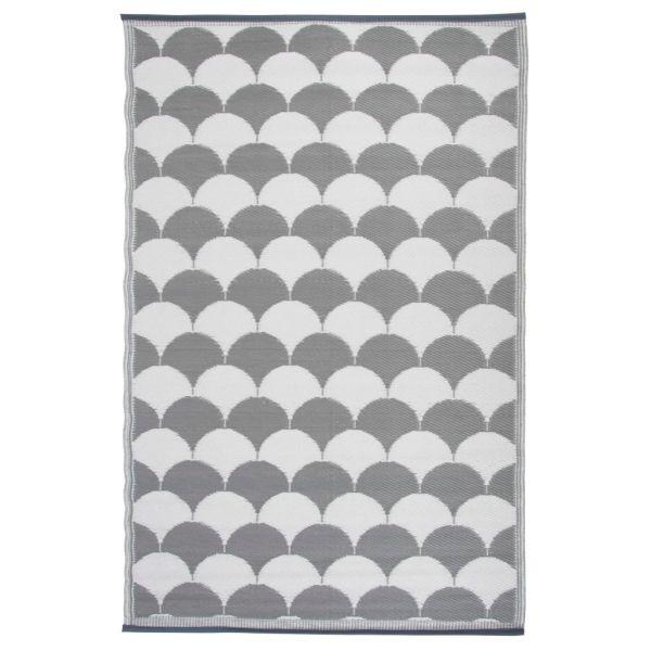 Esschert Design Covor de exterior, gri și alb, 180 x 121 cm, OC24