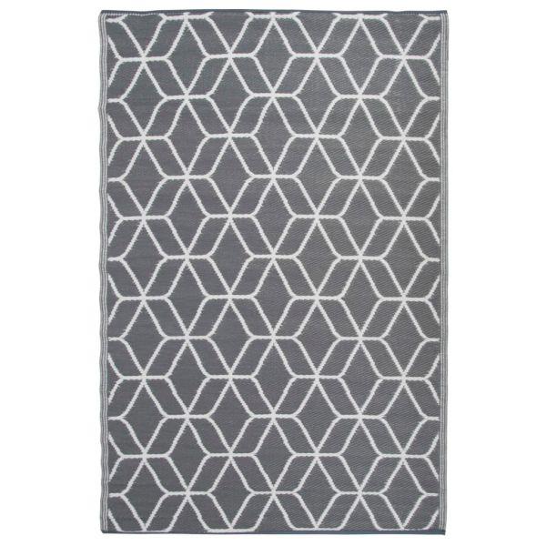 Esschert Design Covor de exterior, gri și alb, 180 x 121 cm, OC25