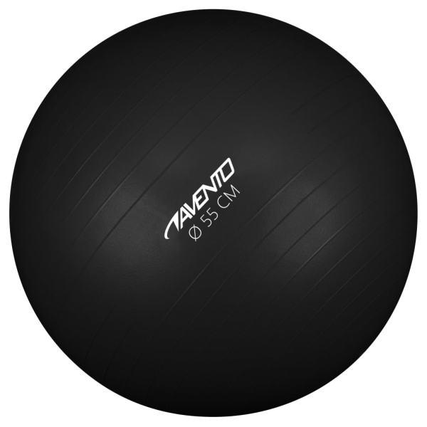 Avento Minge de fitness/gimnastică, negru, diam.55 cm