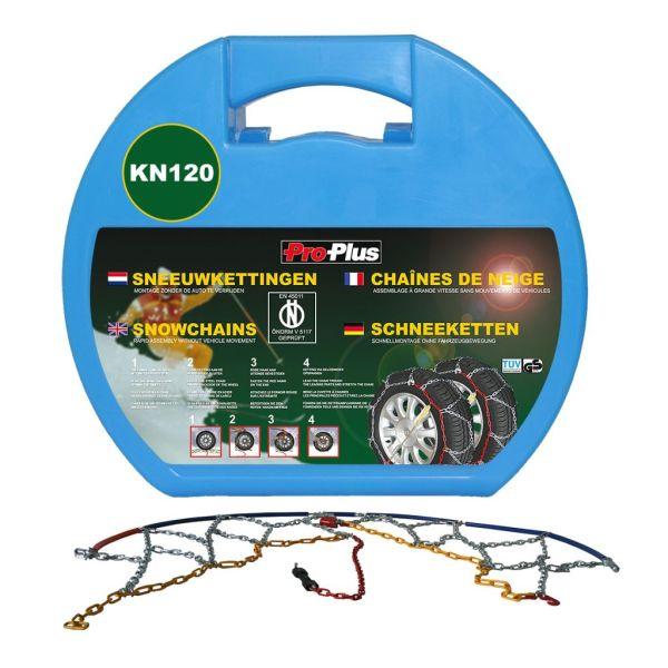 ProPlus Lanțuri de zăpadă pentru anvelope auto, 12 mm, KN120, 2 buc.