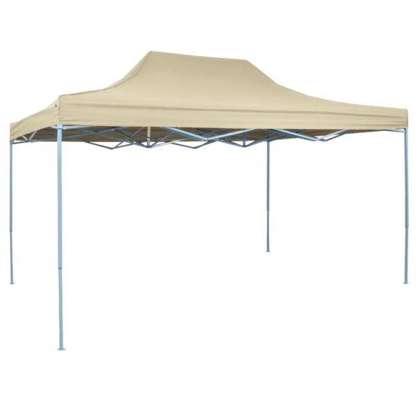 42511 vidaXL Foldable Tent Pop-Up 3×4,5 m Cream White