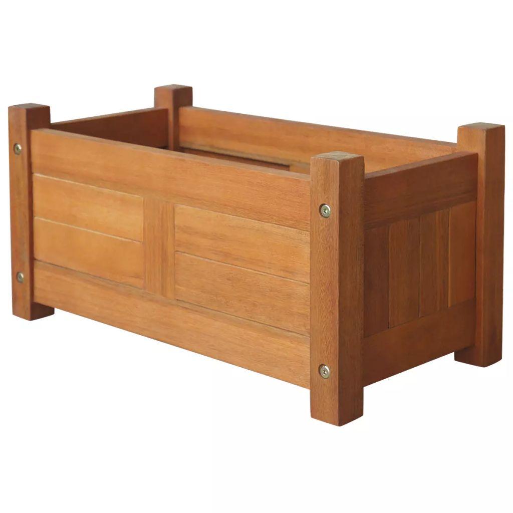 vidaXL Strat înălțat de grădină, 50x25x25 cm, lemn de acacia