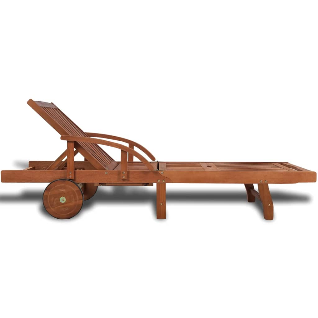 Șezlong, lemn masiv de acacia