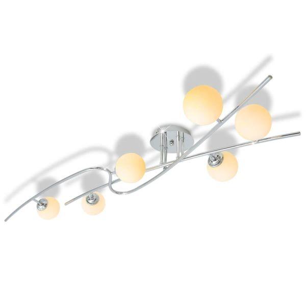 vidaXL Lustră cu 6 becuri LED G9 240 W