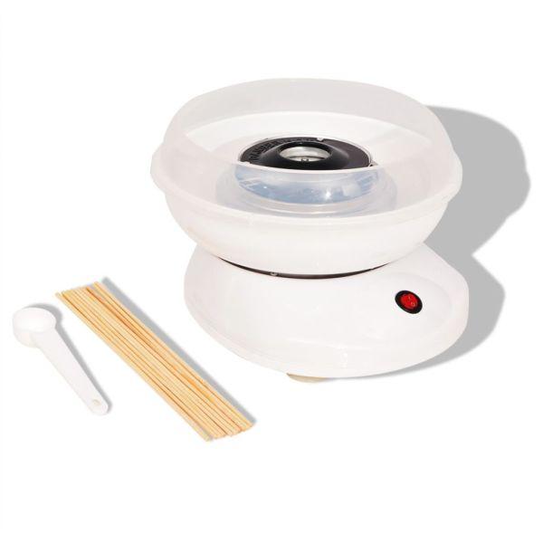 vidaXL Mașină vată de zahăr 48W albă