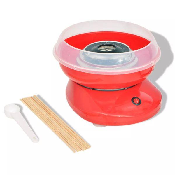 vidaXL Mașină vată de zahăr 480 W roșie