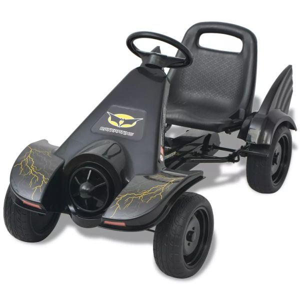 Mașinuță kart cu șezut reglabil neagră