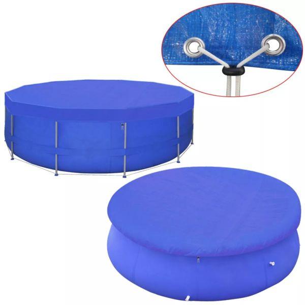 vidaXL Prelată piscină din PE, rotund, 460 cm, 90 g/m²