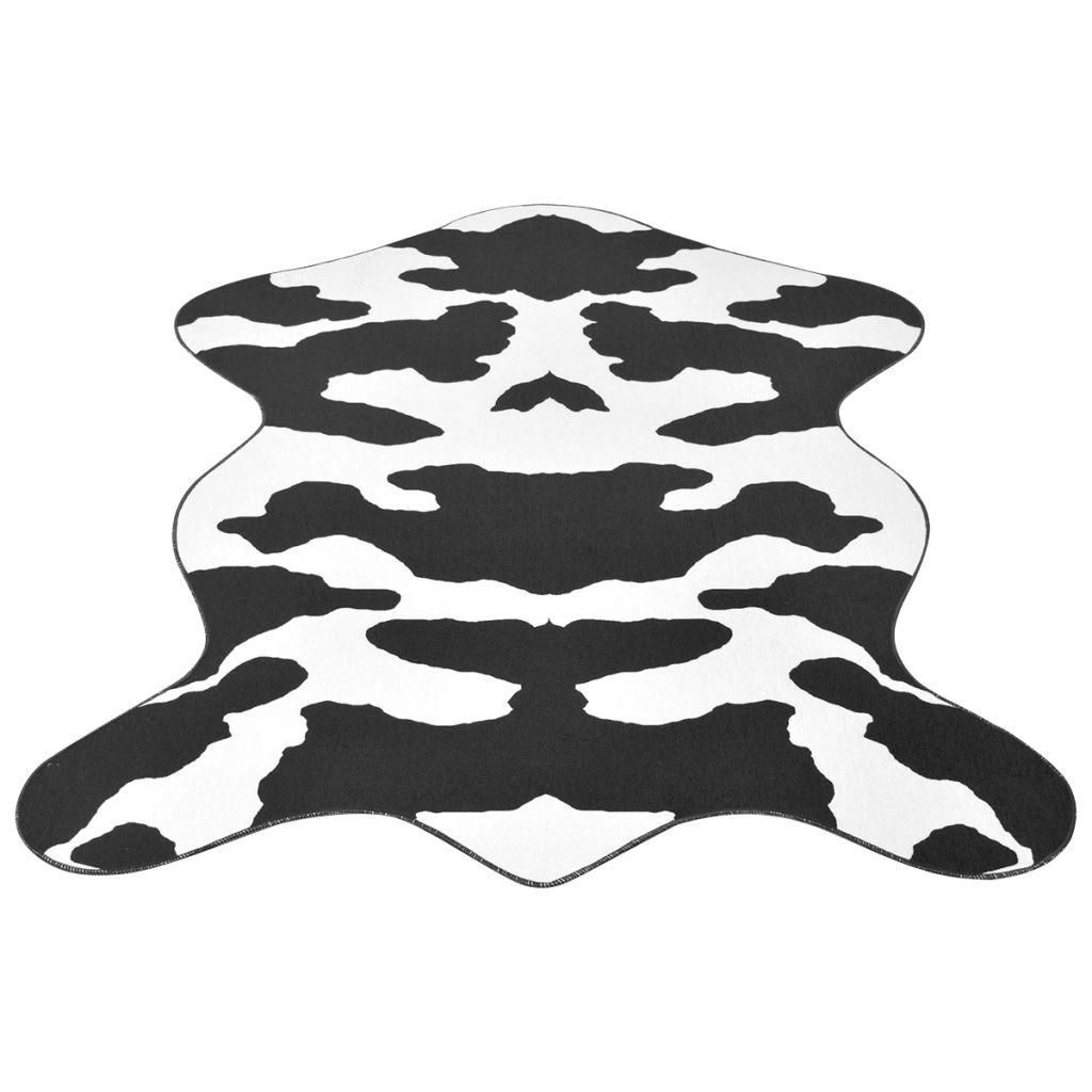 vidaXL Covor formă văcuță, imprimeu văcuță 150 x 220 cm, negru