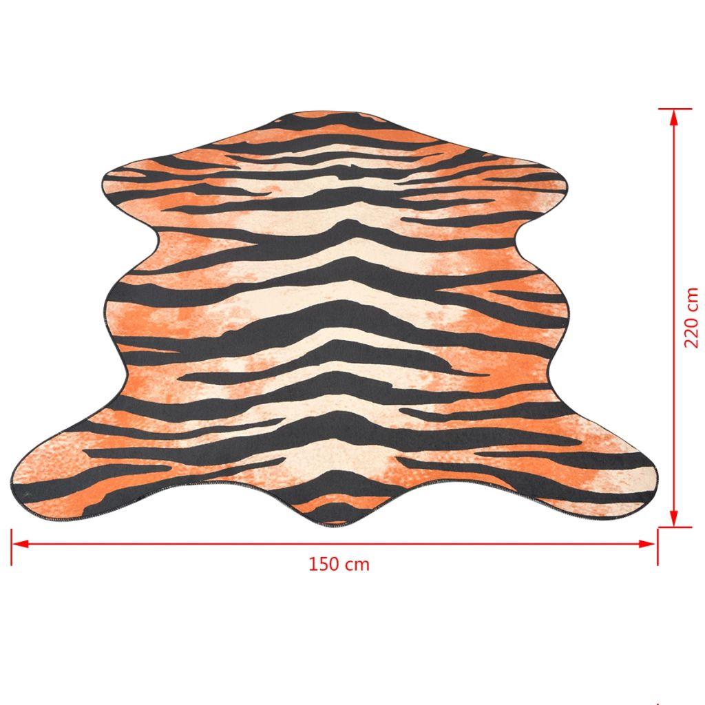 Covor cu formă și imprimeu de tigru, 150 x 220 cm