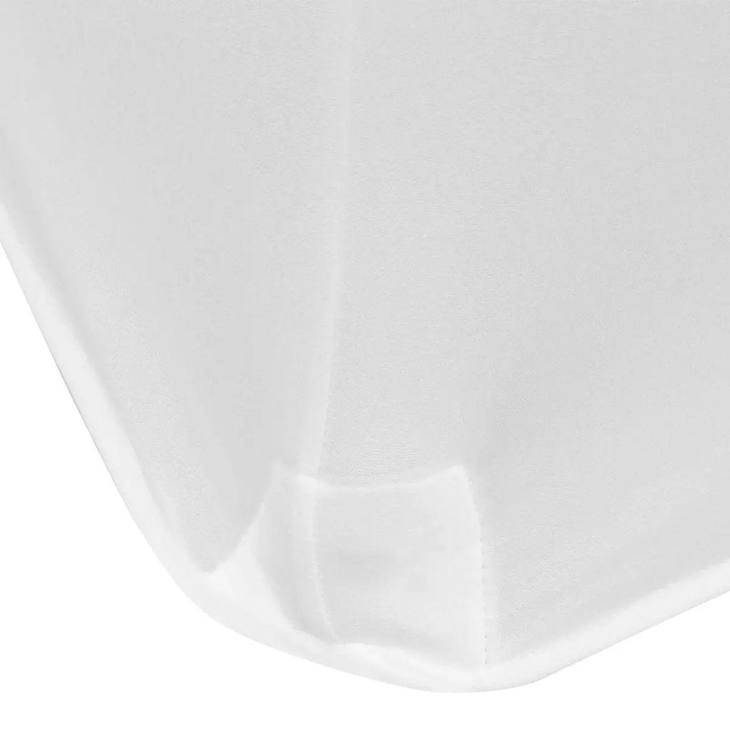 Huse de masă elastice, 183 x 76 x 74 cm, 2 buc, alb