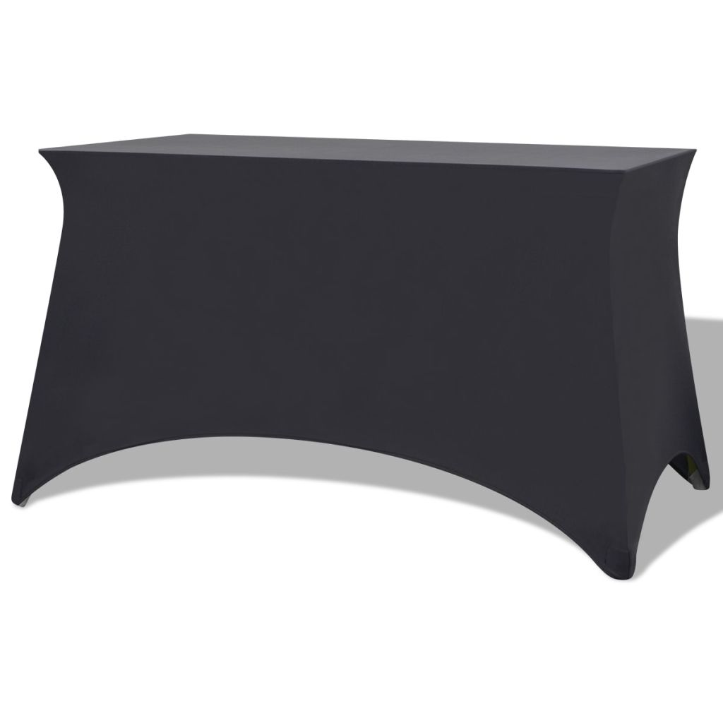 vidaXL Huse elastice pentru masă, 243 x 76 x 74 cm, antracit, 2 buc.