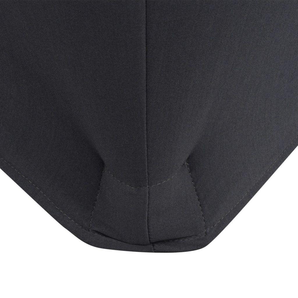 Huse elastice pentru masă, 243 x 76 x 74 cm, antracit, 2 buc.