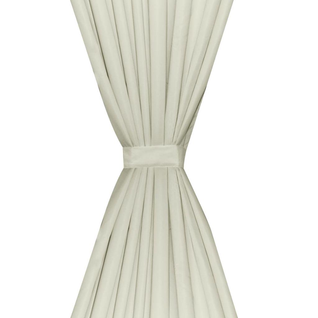 Draperii opace, 2 buc., strat dublu, 140 x 175 cm, crem