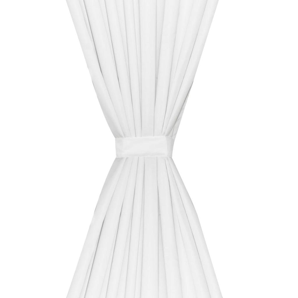 vidaXL Draperii opace, 2 buc., strat dublu, 140 x 175 cm, alb