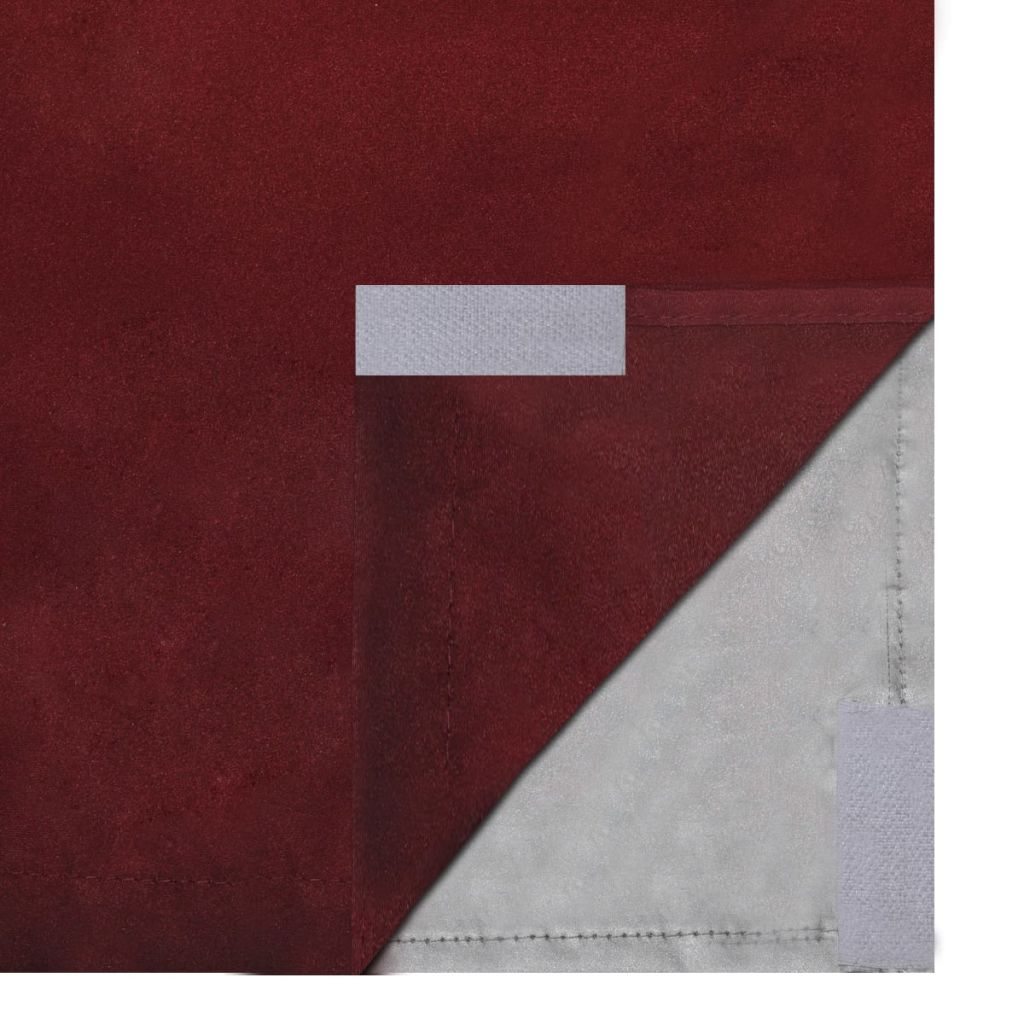 Draperii opace, 2 buc, strat dublu, 140 x 175 cm, bordo