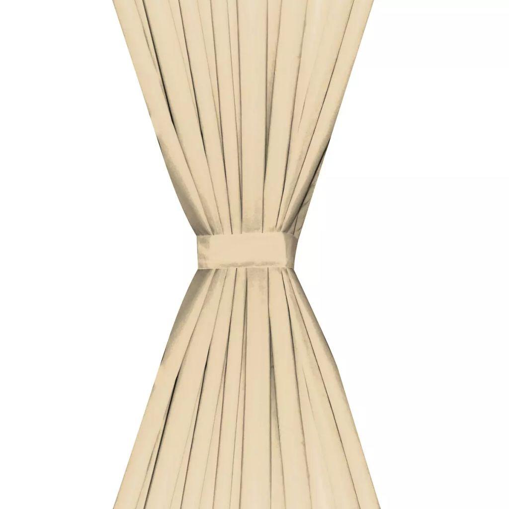 vidaXL Draperii opace, 2 buc., strat dublu, 140 x 175 cm, bej