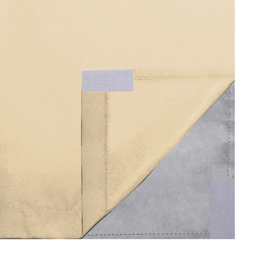Draperii opace, 2 buc., strat dublu, 140 x 245 cm, bej