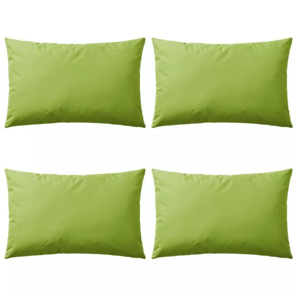 vidaXL Perne de exterior, 4 buc., verde măr, 60 x 40 cm