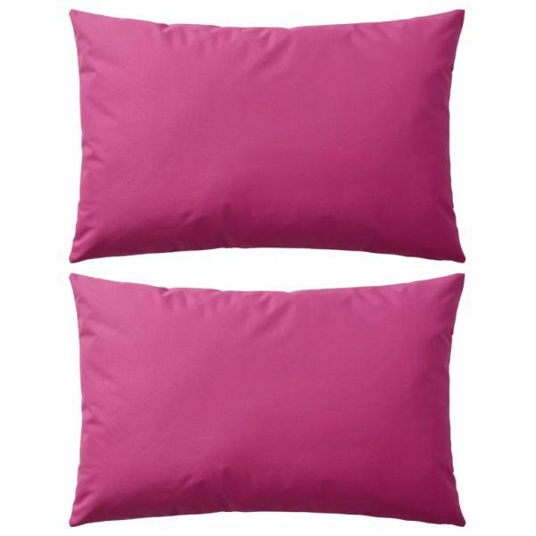 vidaXL Perne de exterior, 2 buc, 60×40 cm, roz