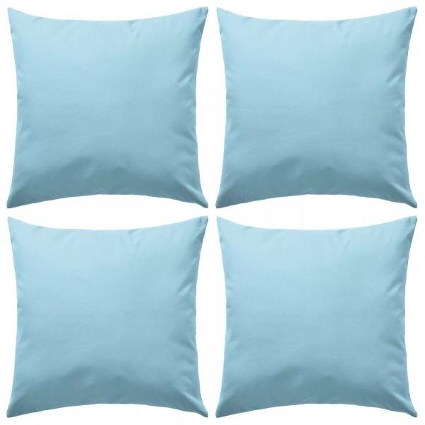 vidaXL Perne de exterior, 4 buc., albastru deschis, 45 x 45 cm