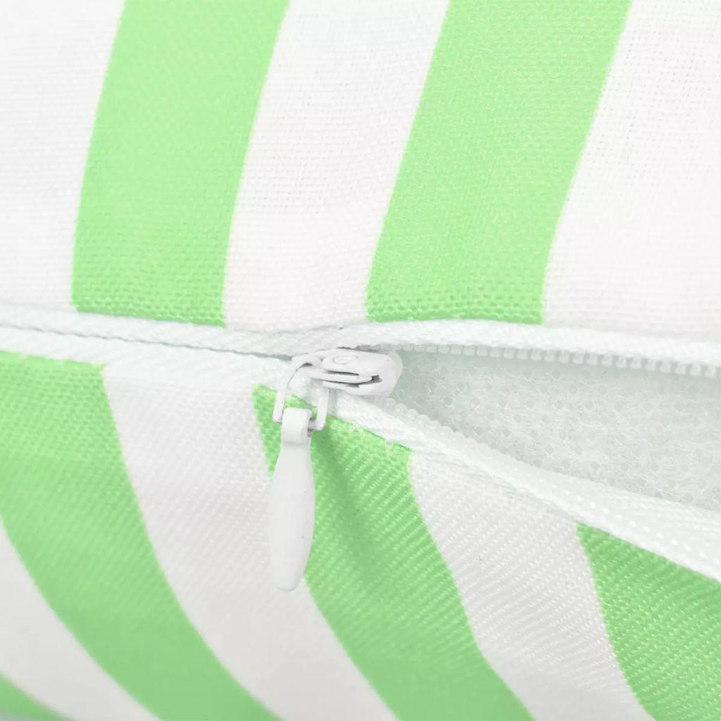 Perne de exterior, 2 buc., verde măr, 45×45 cm, imprimeu dungi