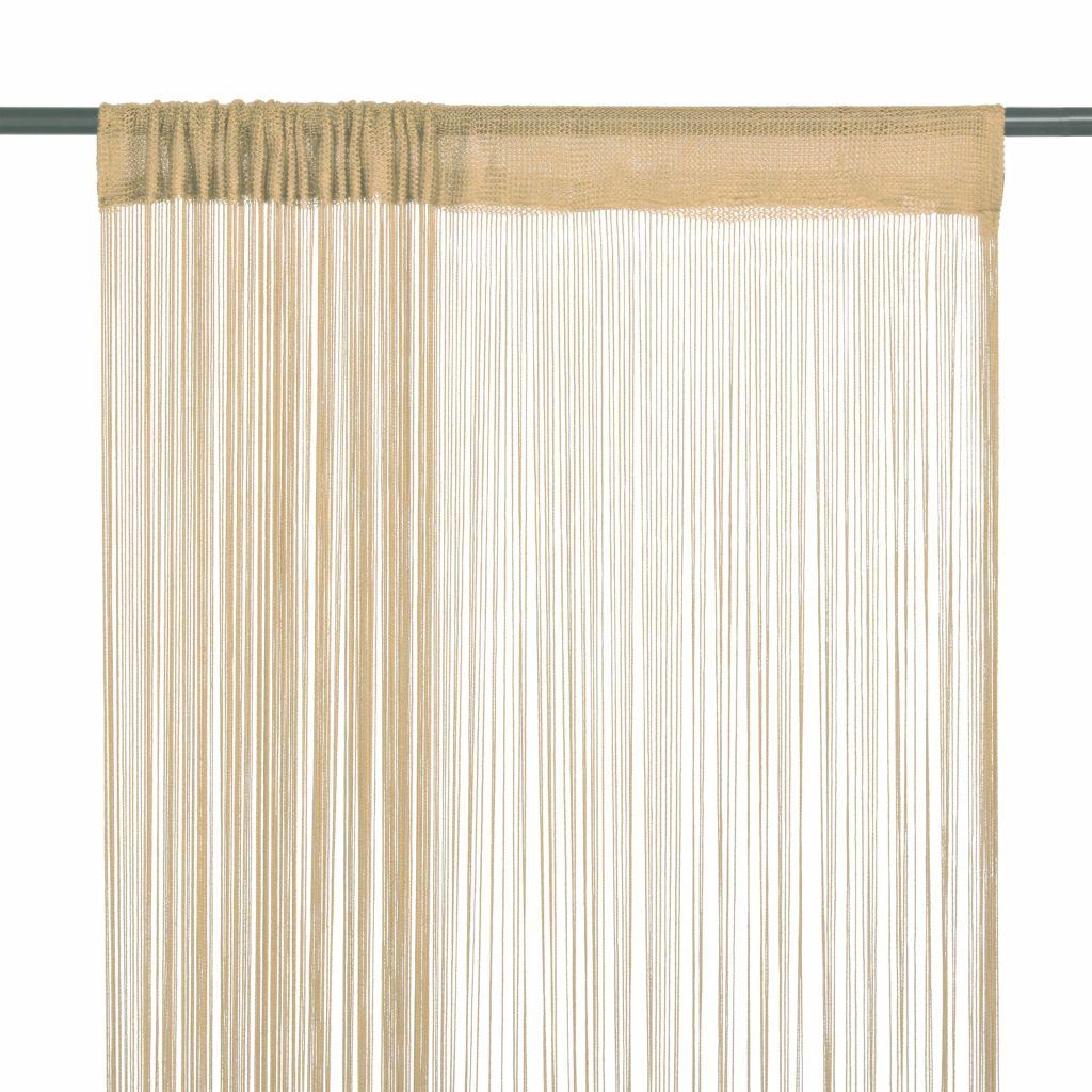vidaXL Draperii cu franjuri, 2 buc., 100 x 250 cm, bej