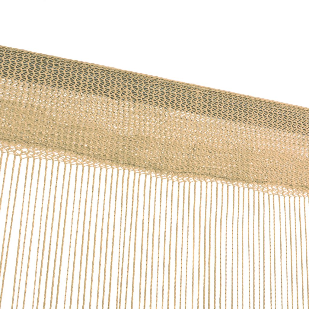 Draperii cu franjuri, 2 buc., 100 x 250 cm, bej