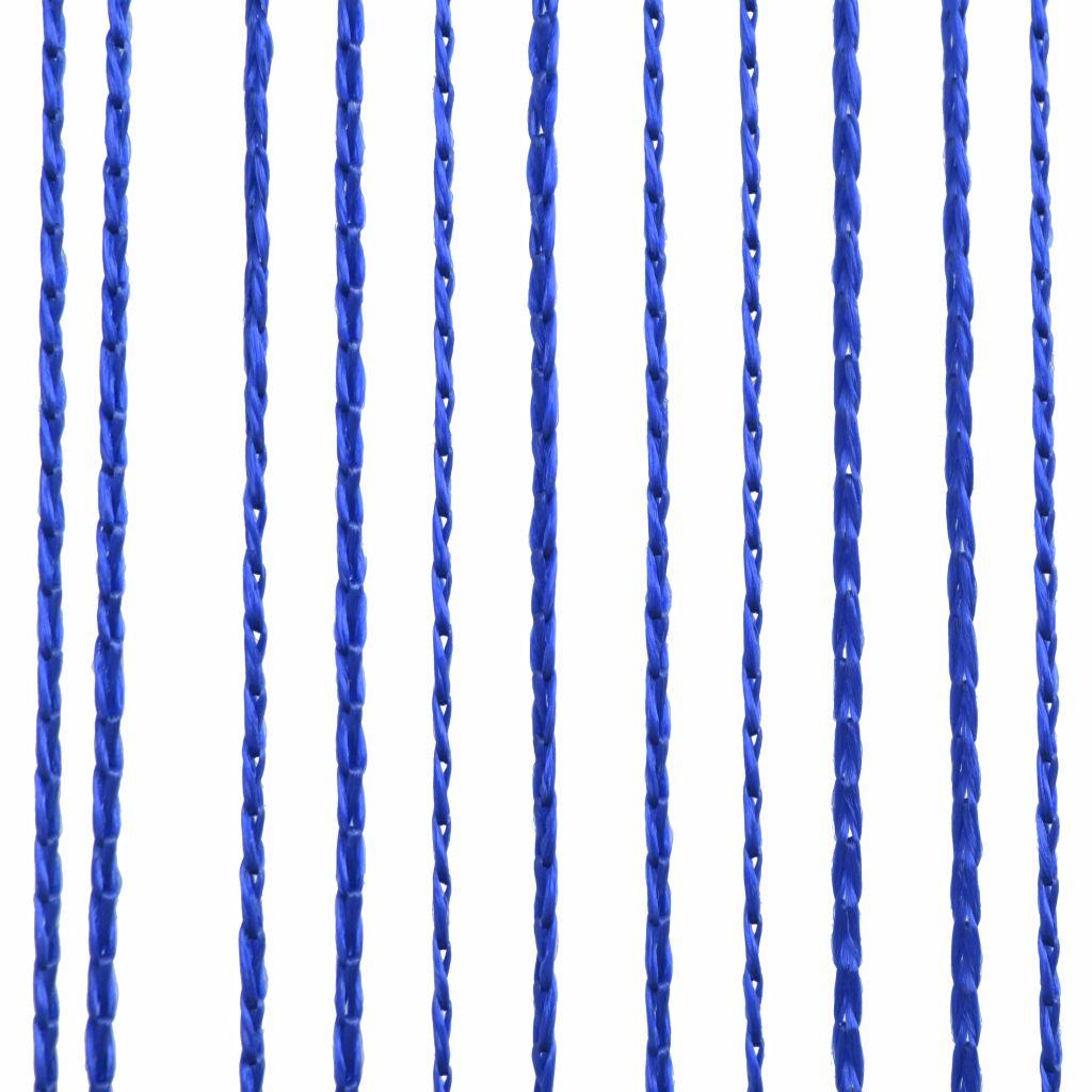 Draperii cu franjuri, 2 buc., 140 x 250 cm, albastru