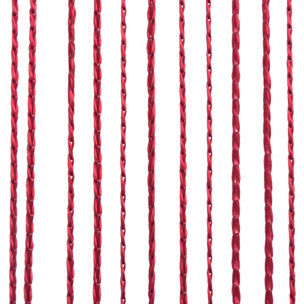 vidaXL Draperii cu franjuri, 2 buc., 140 x 250 cm, roșu burgund