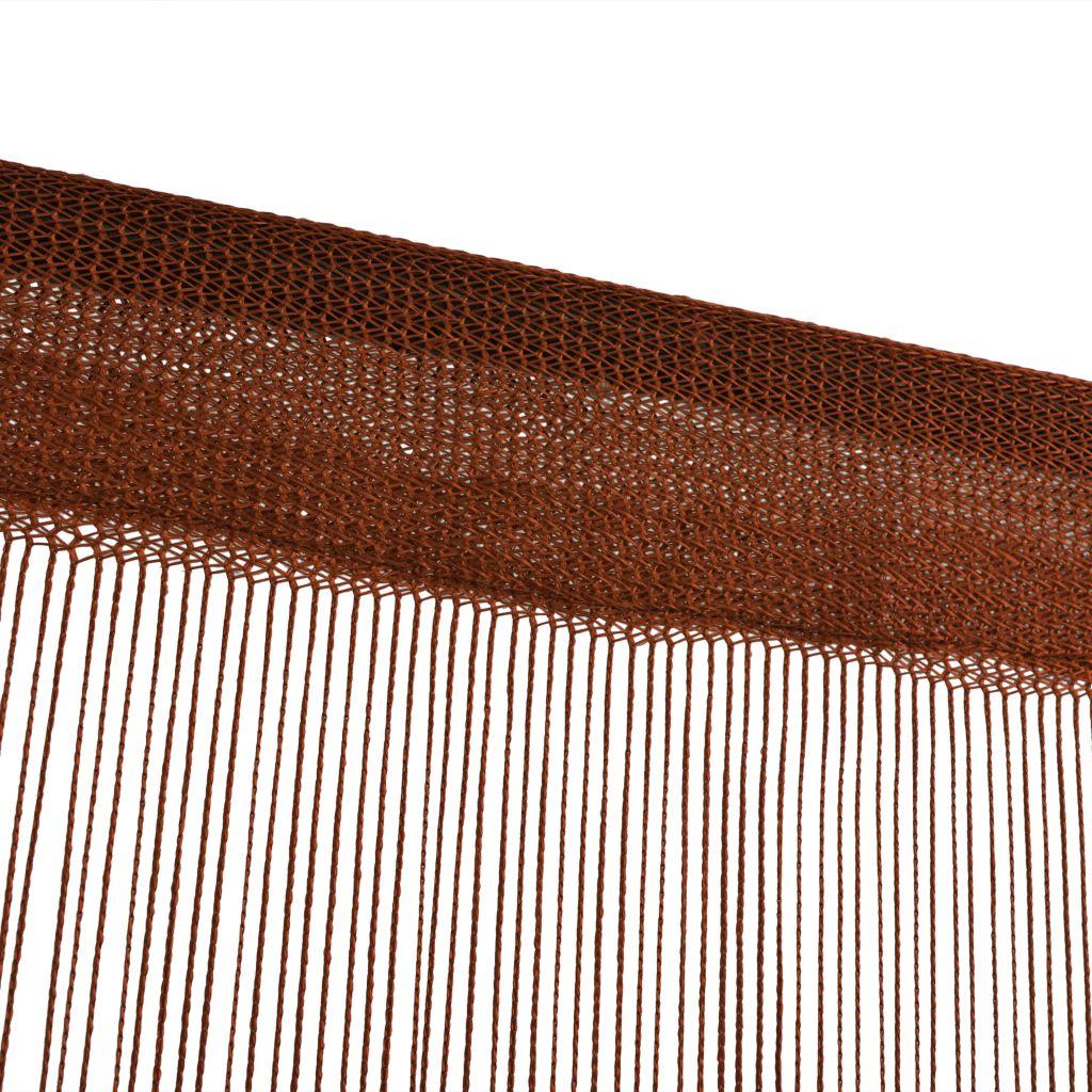vidaXL Draperii cu franjuri, 2 buc., 100 x 250 cm, maro