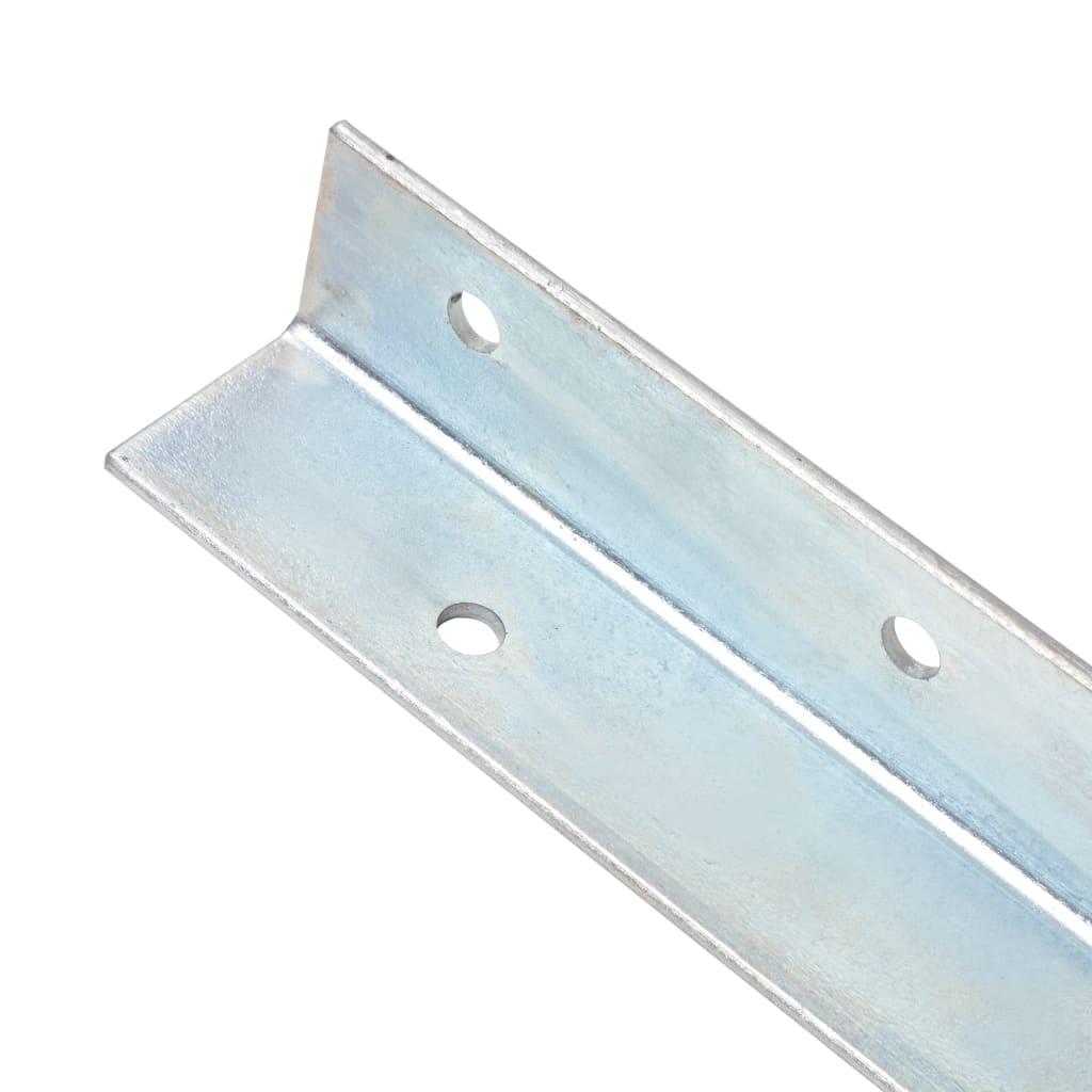Ancore de sol în formă de L, 12 buc, oțel galvanizat, 5x5x50 cm