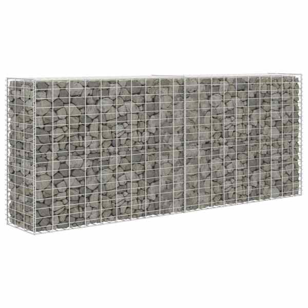 vidaXL Coș gabion, 85 x 30 x 200 cm, oțel galvanizat