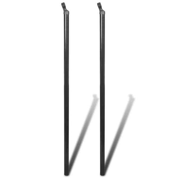 vidaXL Stâlpi de susținere pentru gard de plasă, 2 buc., 195 cm
