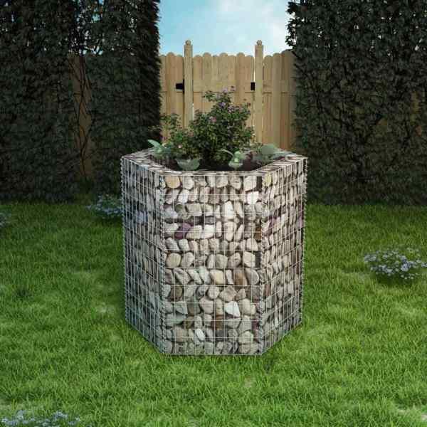 vidaXL Strat înălțat gabion hexagonal, 100 x 90 x 100 cm