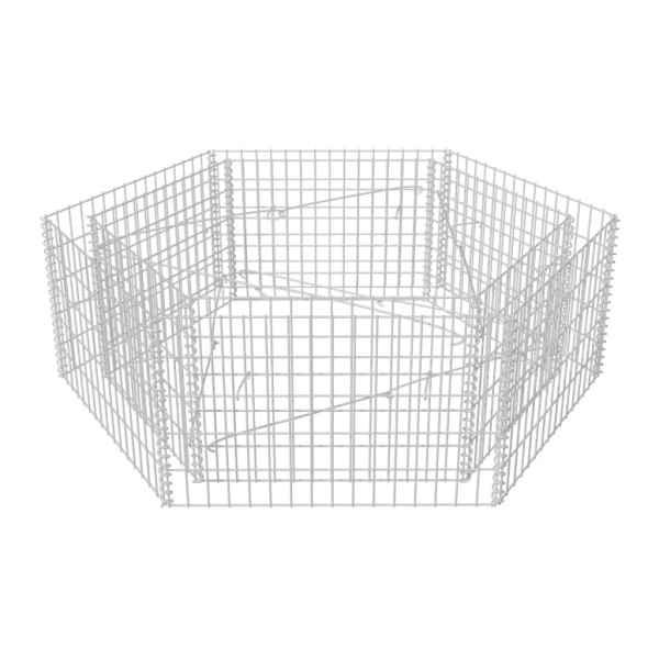 Strat înălțat gabion hexagonal, 160 x 140 x 50 cm